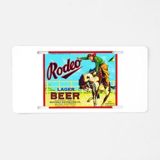 California Beer Label 2 Aluminum License Plate