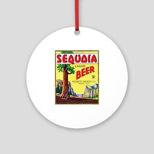 California Beer Label 3 Ornament (Round)