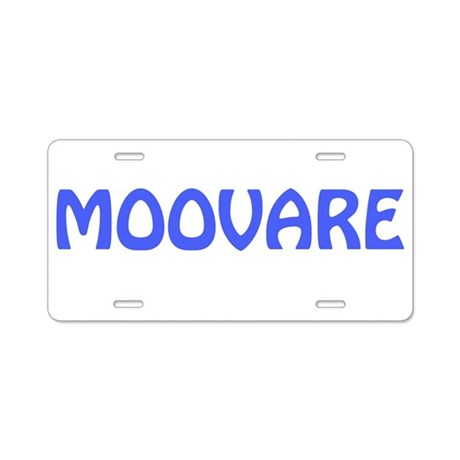 MOOVARE Aluminum License Plate
