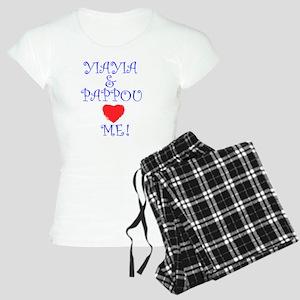 YIAYIA AND PAPPOU LOVE ME Women's Light Pajamas