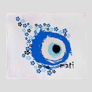 MATI-GREEK EYE Throw Blanket