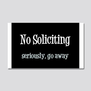 No soliciting Car Magnet 20 x 12