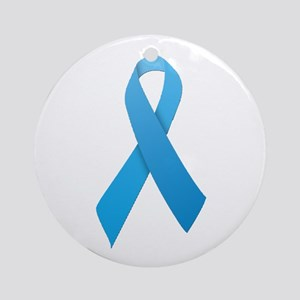 Light Blue Ribbon Ornament (Round)
