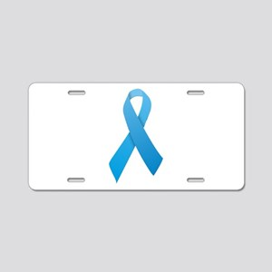 Light Blue Ribbon Aluminum License Plate