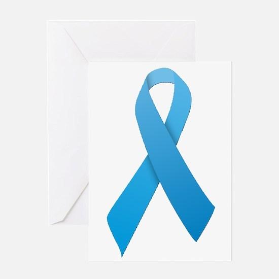 Light Blue Ribbon Greeting Card