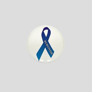 Blue Ribbon 'Survivor' Mini Button