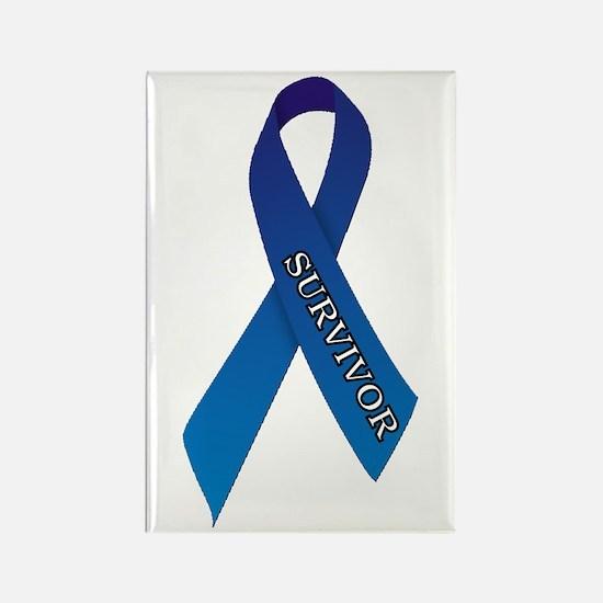 Blue Ribbon 'Survivor' Rectangle Magnet (10 pack)