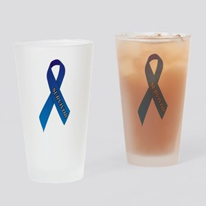 Blue Ribbon 'Survivor' Drinking Glass