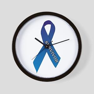Blue Ribbon 'Survivor' Wall Clock
