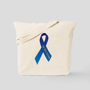 Blue Ribbon 'Survivor' Tote Bag