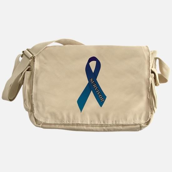 Blue Ribbon 'Survivor' Messenger Bag