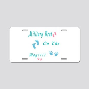 military brat Aluminum License Plate