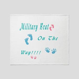 military brat Throw Blanket