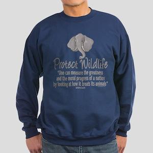 Protect Elephants Sweatshirt (dark)