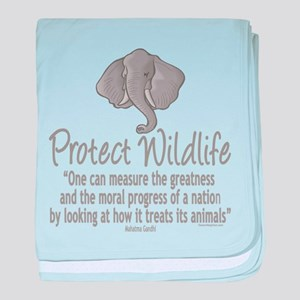 Protect Elephants baby blanket