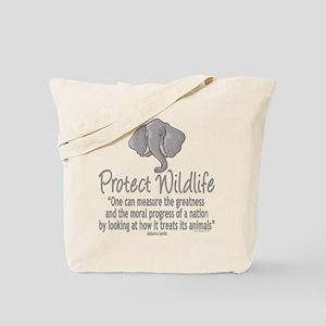 Protect Elephants Tote Bag
