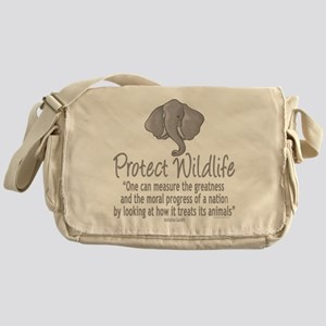 Protect Elephants Messenger Bag