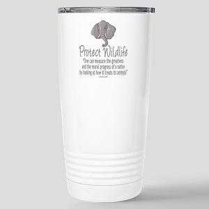 Protect Elephants Stainless Steel Travel Mug