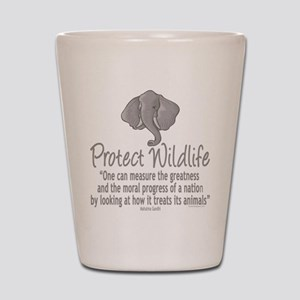 Protect Elephants Shot Glass
