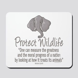Protect Elephants Mousepad