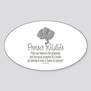 Protect Elephants Sticker (Oval)