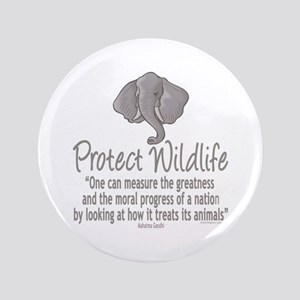 "Protect Elephants 3.5"" Button"