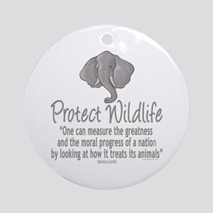 Protect Elephants Ornament (Round)