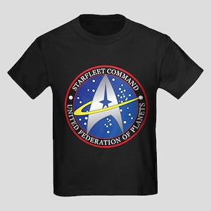 Star Fleet Command Kids Dark T-Shirt