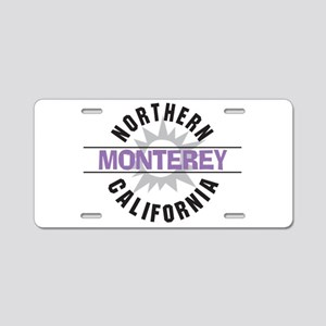 Monterey California Aluminum License Plate