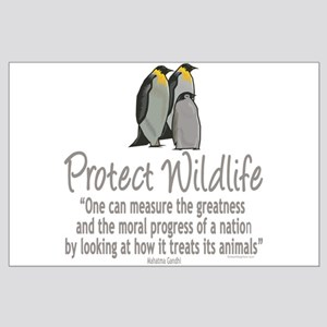 Protect Penguins Large Poster