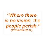 No Vision 38.5 x 24.5 Wall Peel