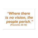 No Vision Mini Poster Print