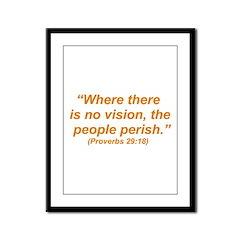 No Vision Framed Panel Print