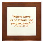 No Vision Framed Tile