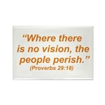 No Vision Rectangle Magnet (10 pack)