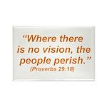 No Vision Rectangle Magnet (100 pack)