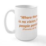 No Vision Large Mug