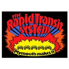 Rapid Transit System - Plymouth Poster