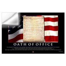 Oath of Office 23x35 Wall Decal