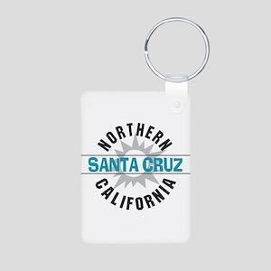 Santa Cruz California Aluminum Photo Keychain