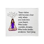 Look Inward Throw Blanket