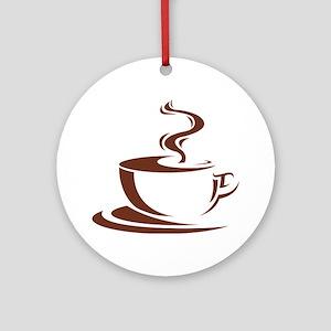 coffee Round Ornament