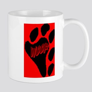 WOOF ON BEAR PAW_red/blk Mug