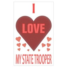 My State Trooper Framed Print