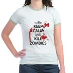 Keep Calm Jr. Ringer T-Shirt