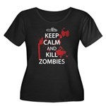 Keep Calm Women's Plus Size Scoop Neck Dark T-Shir