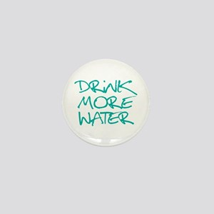 Drink More Water_Blue2 Mini Button
