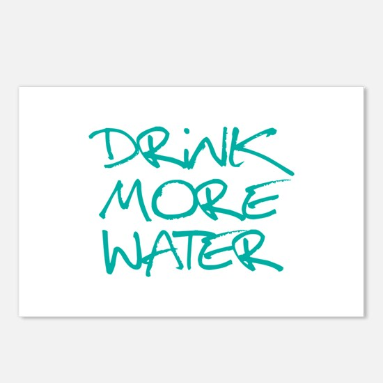 Drink More Water_Blue2 Postcards (Package of 8)