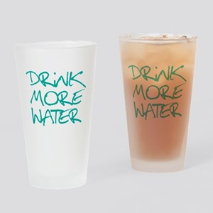 Drink More Water_Blue2 Drinking Glass