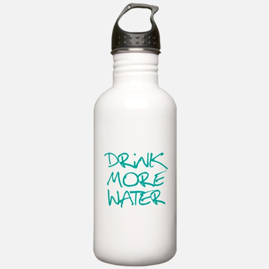Drink More Water_Blue2 Water Bottle